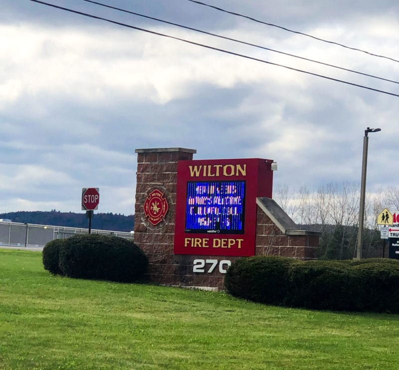 Wilton Fire Department entrance
